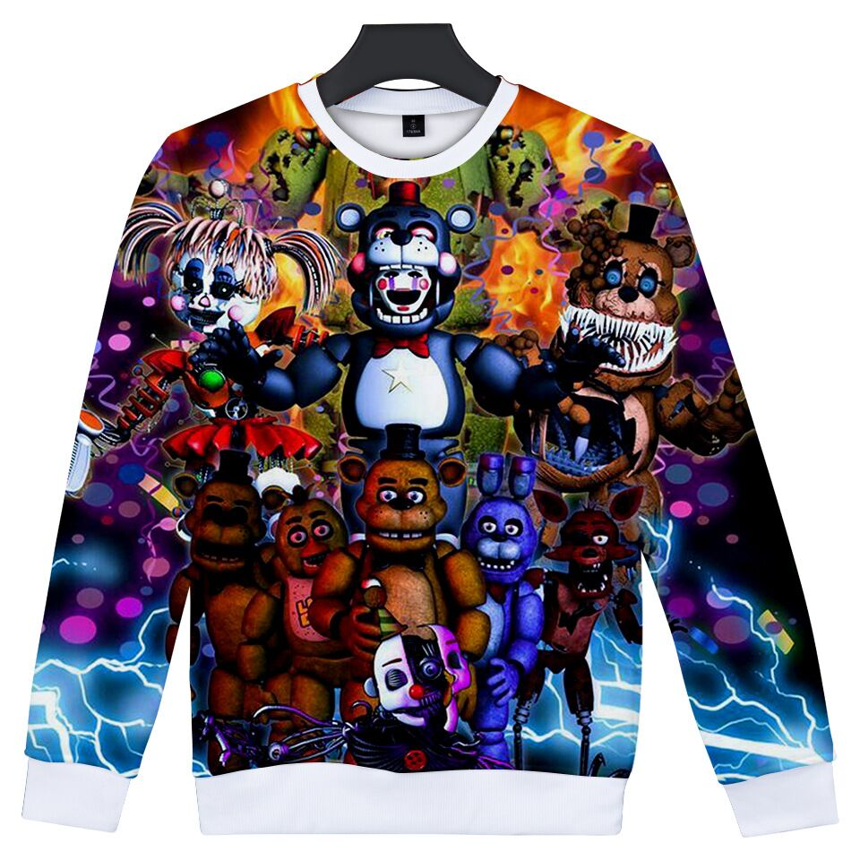 Sweatshirt Fnaf-Costume Sport-Clothes Teens Boys Five-Nights Print Autumn 3D for School-Hoodies