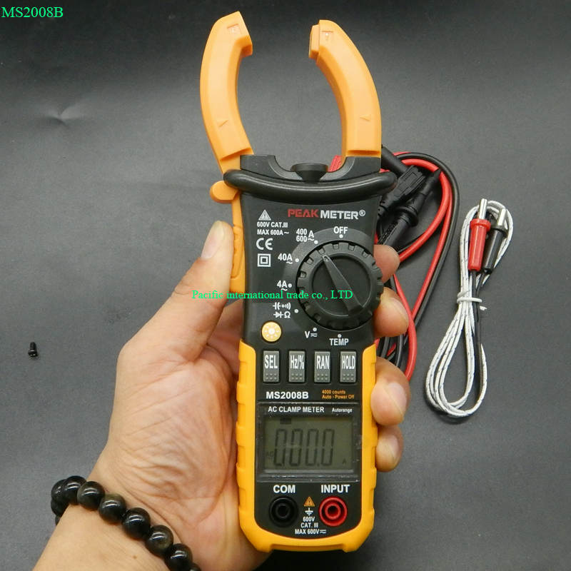 AC Clamp Meter 4000 Counts Backlight multimeter Tester  MS2008B Electrical portable multimeter ut118b mini multimeter excellent pen measuring electrical induction genuine universal backlight