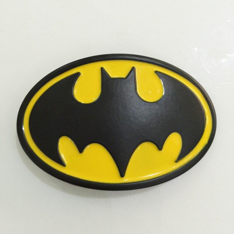 Retail Best selling Men's high quality Film Superhero Batman belt buckle With Oval Metal Jeans accessories Fit 4cm Wideth Belt