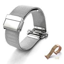 Ремешок из нержавеющей стали В миланском стиле для apple watch