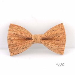 RBOCOTT Cork Wood Bow Tie Wooden Bow Ties Men's Novelty Handmade Solid Bowtie For Men Wedding Party Accessories Neckwear 2