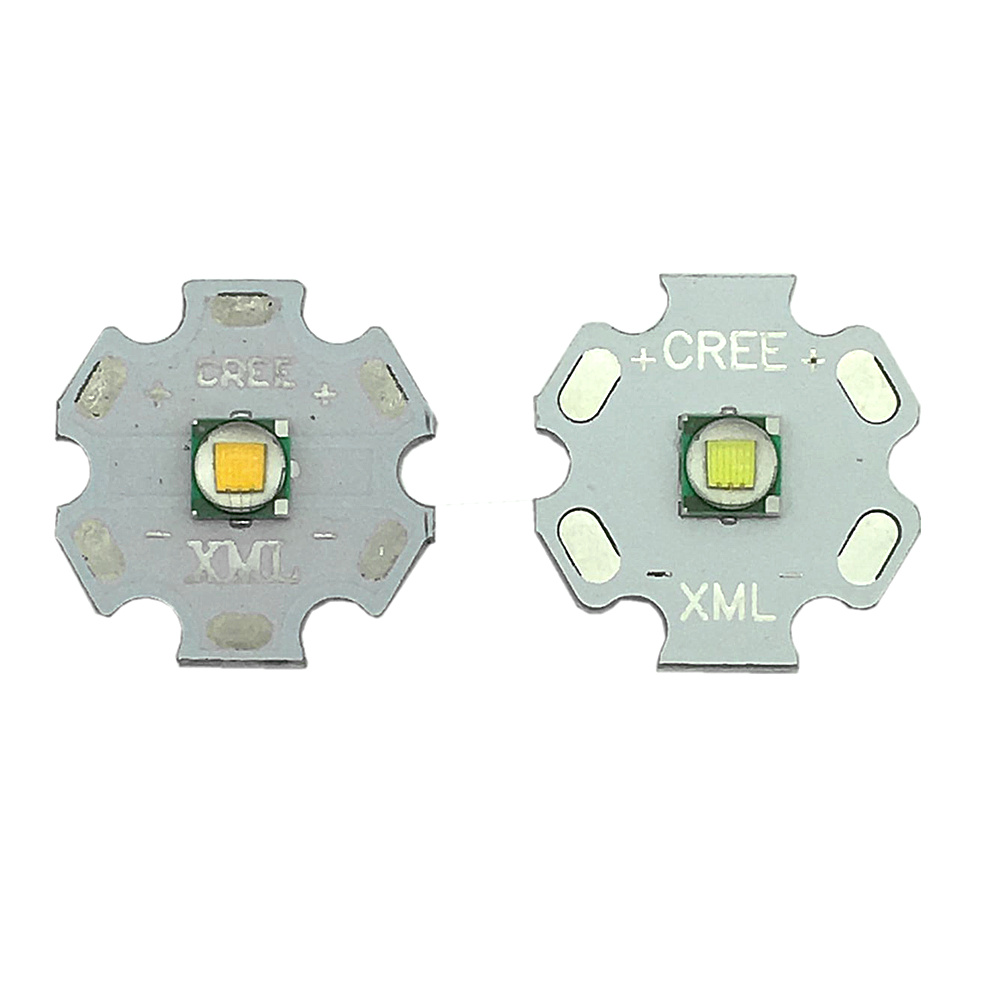 1-10pcs CREE XML XM-L T6 LED T6 U2 10W WHITE Warm White High Power LED Chip Emitter With 20mm PCB For DIY
