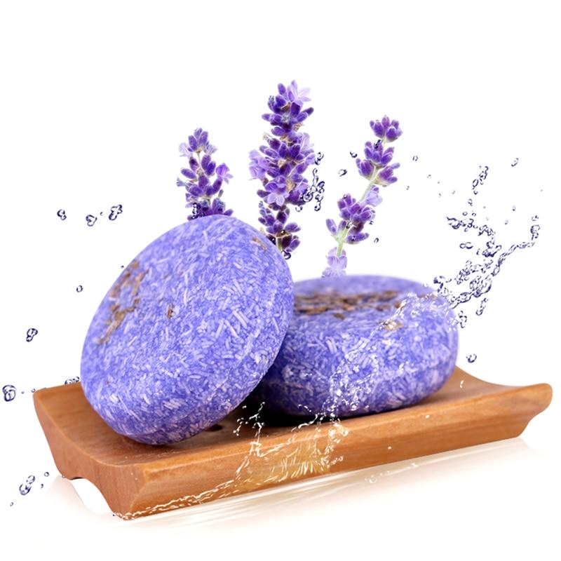 55g 100% Natural Seaweed Whitening Soap Handmade Organic Lavender Soap Shampoo Blanqueador Piel Skin Acne Bamboo Carbon Soap