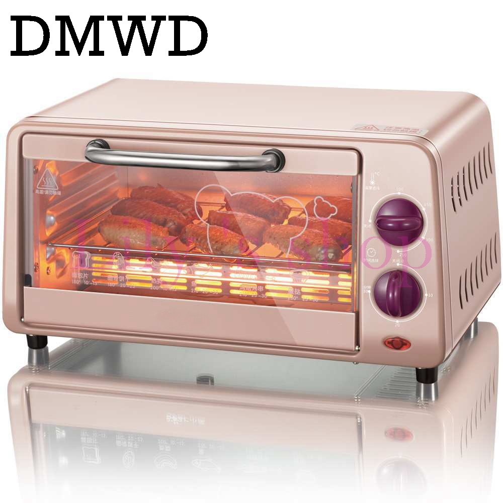 DMWD Mini household Electric oven Multifunctional bread Pizza cake Baking grill automatic roasted chicken machine with timer 9L jiqi electric baking pan double side heating household cake machine flapjack pizza barbecue frying grilling plate large1200w