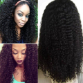 CARA Lace Front Human Hair Wigs Brazilian Kinky Curly Full Lace Human Hair Wigs 8A Pre Plucked Lace Front Wigs For Black Women