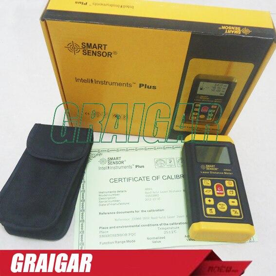 Бесплатная доставка Smart Sensor AR861 лазерный дальномер, лазерный дальномер мера 0.3-60 м