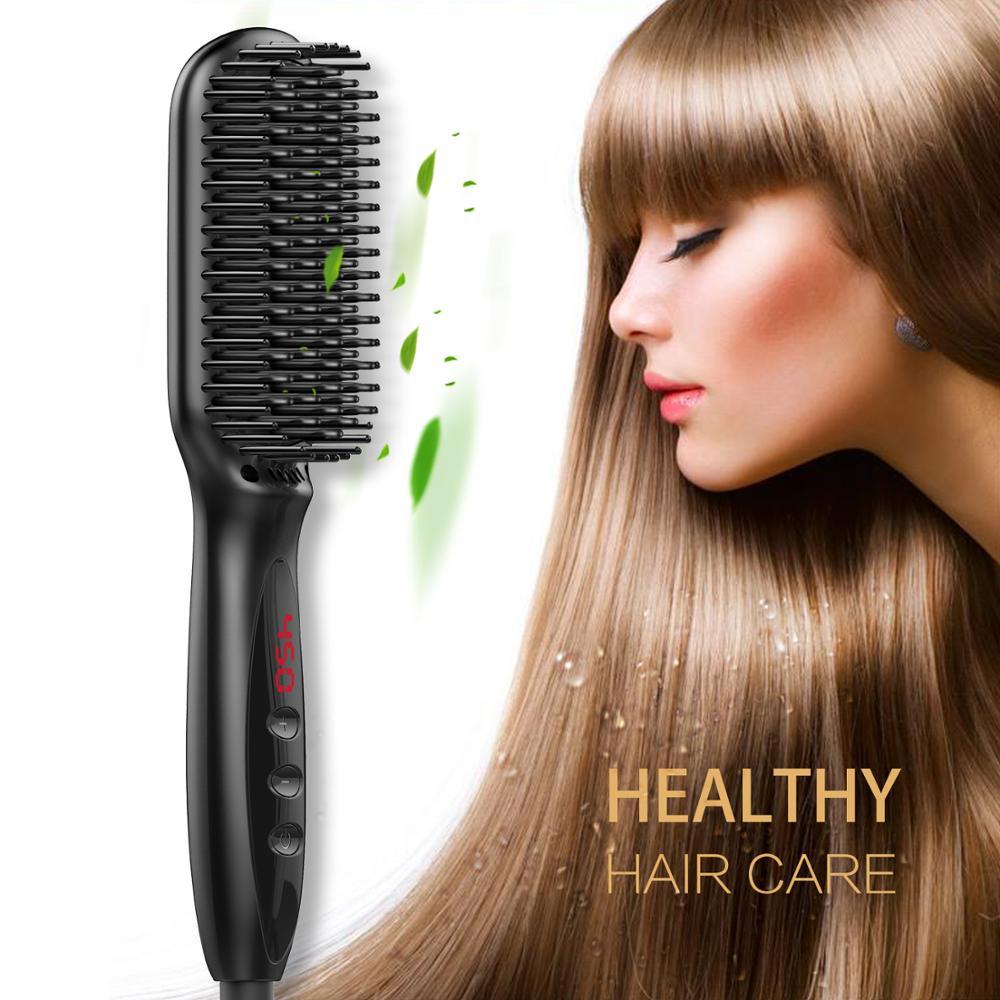 Hair Straightener Ionic Hair Straightening Brush Portable  Heating Straightening Irons Brush Anti Scald Static Detangling.Hair Straightener Ionic Hair Straightening Brush Portable  Heating Straightening Irons Brush Anti Scald Static Detangling.