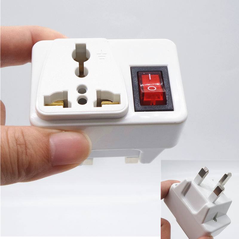 Britain AC Electrical Plug Converter to AU US UK International Travel Universal Adapter AC Electrical Socket With safety switc