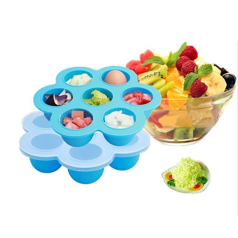 Original Baby Food Container Infant Flower Lattice Fruit Breast Milk Storage Box Safety Silicone Freezer Tray Crisper On Sale
