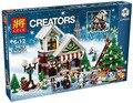 Serie de la muchacha 39015 de Cenicienta Navidad cabaña Bloques Educativos Juguete Ladrillo Compatible con Lepin 10249