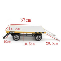 RB 1:10 simulation loading flatbed trailer WPL climbing off road RC remote control car assembling retrofit model toy