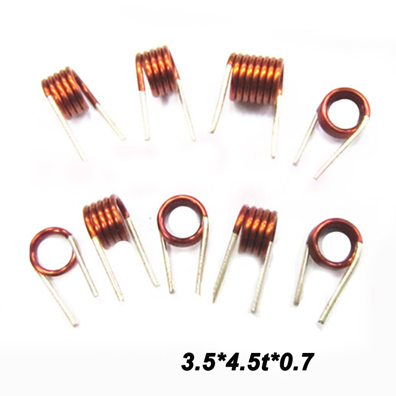 Free shipping 10pc coilcraft inductor 3.5*4.5t*0.7 Copper Wire Hollow Coil Inductance Remote Control FM Inductor