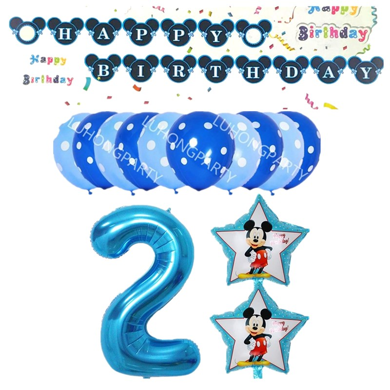 1set cute mickey minnie 1 2 3 4 5 foil balloons birthday party decorations supplies helium globos baloes pink minnie ballons