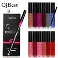 Color Color de maquillaje Maquillaje Maquillaje Kit Akeup Set Oferta Especial Qibest & Set lote 12 Colores brillo de Labios + Lápiz cepillo