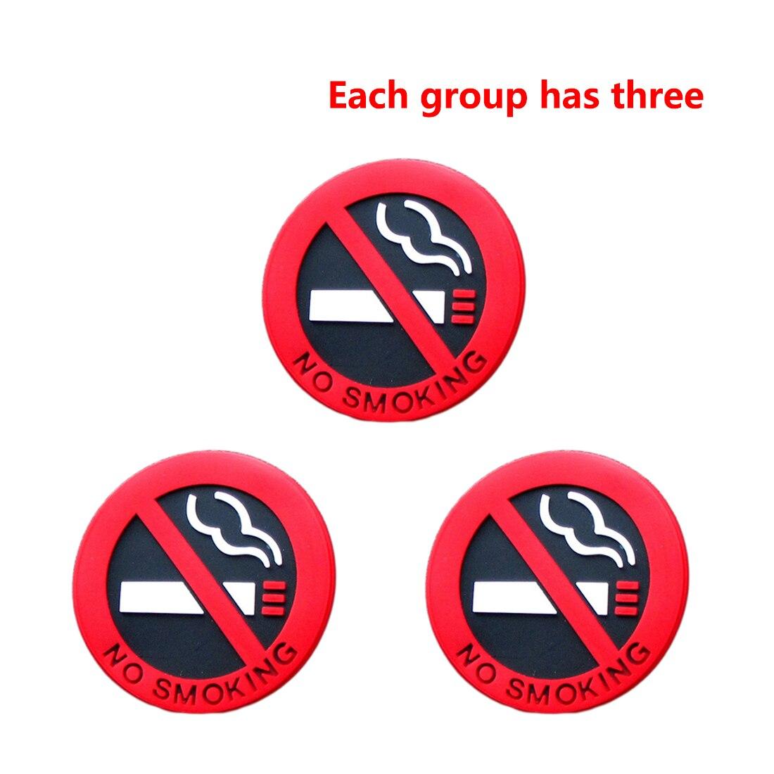 Dewtreetali 3 шт. Резина Нет Курение Вход советы Предупреждение логотип Наклейки автомобиля такси Дверь Наклейка знак клей Стикеры продвижение