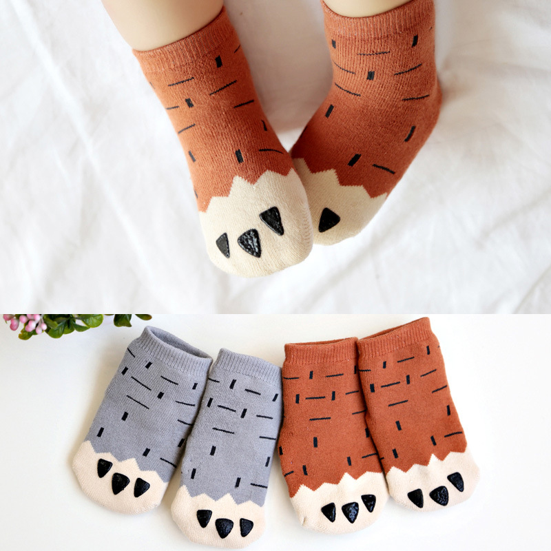 Toddler Baby Girls Cute Animal Paw Terry Cotton Socks 0-4 Years Children Kids Boys Cute Claws Anti-slip Socks 1 Pair DS39
