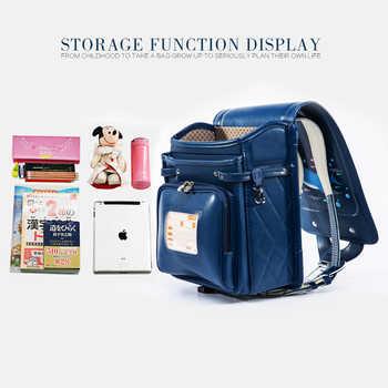 Coulomb Orthopedic School Bag Children Lovely Backpack Animal Prints Kid Japanese PU Hasp Orthopedic Backpacks 2018 New