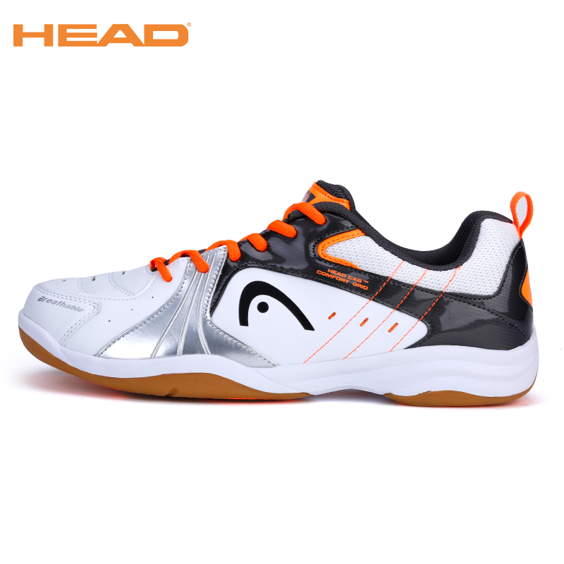 HEAD Light Lace-up Badminton Shoes For Men Training Breathable Anti-Slippery Tennis Sneakers Professional Sport Shoes Men's
