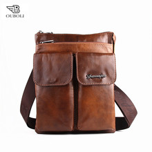 Genuine Leather Men Bags 2016 Hot Sale Shoulder Male Bag Small Messenger Man Bag Vintage Crossbody Handbag Men's Travel New Bags