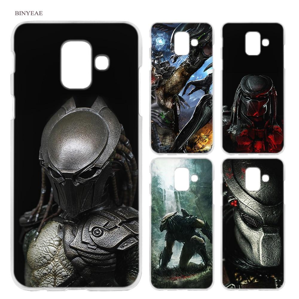 BINYEAE Alien vs Predator Anime Hard Case Cover Fashion for Samsung Galaxy A6 A8 A6+ A8+ Plus J4 J6 J8 2018