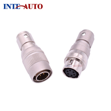 Industrial 6 pins push pull male female connector, compatible Stanexco plug free receptacle, HR10A-7P-6S(73) HR10A-7J-6P(73)