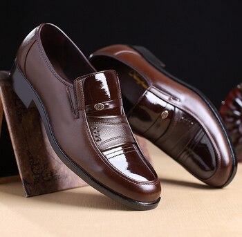 2019 男性の革の靴メンズカジュアルシューズ高品質 pu 男性のパーティーシューズ zapatillas hombre ファッション黒人男性オックスフォード靴