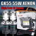 1 Unidades kit bi xenon h4 hi lo 55 W DC HID H4 Bi xenon Bixenon Faro Kit de Conversión 4300 K 6000 K 8000K1000K bixenon kit h4 55 w
