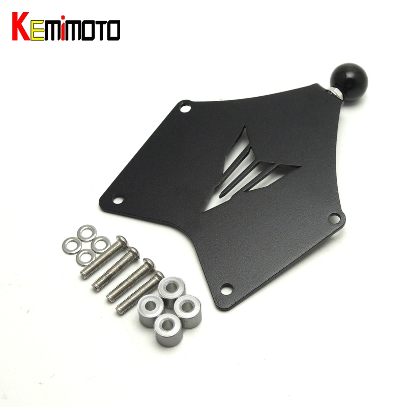 KEMiMOTO MT09 Tracer FJ09 Motorcycle Naked Bike GPS Phone Holder Mount Mounting Bracket for Yamaha MT-09 Tracer 2015 2016 for yamaha mt 09 tracer 2015 2016 fj 09 tracer 2015 2016 steering damper stabilizer with mount bracket