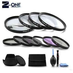 Image 1 - 49 52 55 58 62 67 72 77 MM Macro Close up Filter +1+2+4+10 Set+ UV CPL FLD +ND2 4 8 Camera Lens Filter+Hood for Canon Nikon Sony