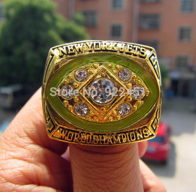 high quality 1968 new york jets world championship ring solid souvenir men christmas gift free shipping