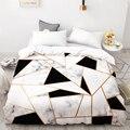 3D HD цифровая печать на заказ пододеяльник  одеяло/одеяло набор постельного белья Королева Король 220х240  постельное белье черный мрамор белый