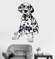 Dalmatian Pedigree Dog Wall Decal Pet Shop Animal Vinyl Sticker Nursery Cute Decor Art Mural H84cm