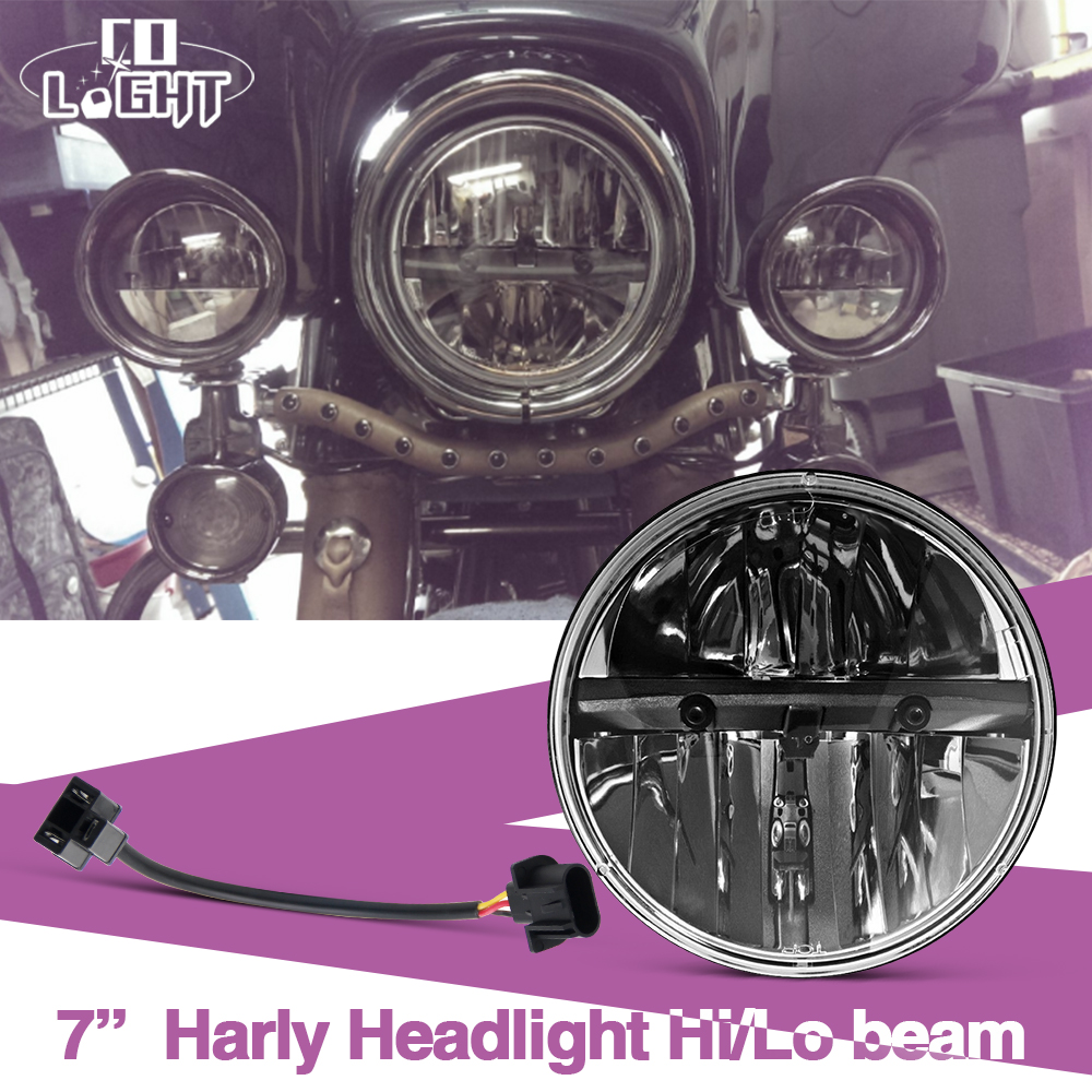 H4 Round Headlight 7'' 40W 20W H13 High Low Dipped Beam Waterproof Car Daytime Running Lights for Jeep Lada Niva Uaz 9-30V 75w 7 led headlight h4 h13 high low beam round cars running lights for jeep lada niva 4x4
