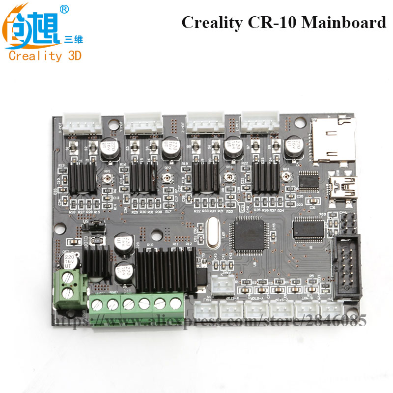Creality 3D CR-10 12V 3D Printer Mainboard 300 * 300 * 400 mm Control Panel With USB Port & Power Original Factory Supply flsun 3d printer big pulley kossel 3d printer with one roll filament sd card fast shipping