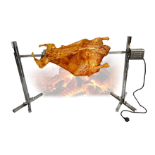 Stainless Steel Spit Roaster Camping Large Grill Rotisserie Spit Roaster Rod Charcoal BBQ Pig Chicken 15W Motor free shipping stainless steel pig lamb goat charcoal bbq grill roaster rotisserie spit 110v 220v electric rotated motor