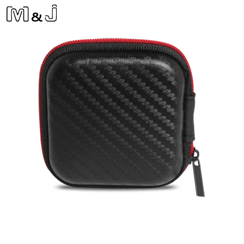 M&J High End Earphone Accessories Earphone Case Bag Headphones Portable Storage Case Bag Box Headphone Accessories Free Shipping