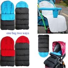 1 шт./лот, детская коляска, теплый спальный мешок, универсальная муфта для ног на осень и зиму, водонепроницаемые ветрозащитные подушки для коляски Kleinkind