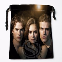 Fl-Q69 New The Vampire Diaries &7 Custom Logo Printed  receive bag  Bag Compression Type drawstring bags size 18X22cm 711-#F69