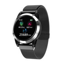 ebef0fedda16 Nuevo Smart watch hombres impermeables del ritmo cardíaco del pulso medidor  llamar mensaje Display reloj relojes