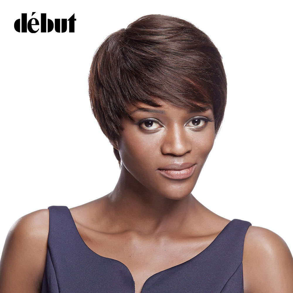Debut Wigs For Black Women Brazilian Straight Remy Hair Short Bob Wigs Human Hair Wigs With Hair Weaving Free Shipping