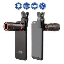 8X/12x MINIการขยายสูงกล้องโทรทรรศน์เดียวเลนส์โฟกัสยาวUniversalสำหรับกล้องดิจิตอลโทรศัพท์มือถือ