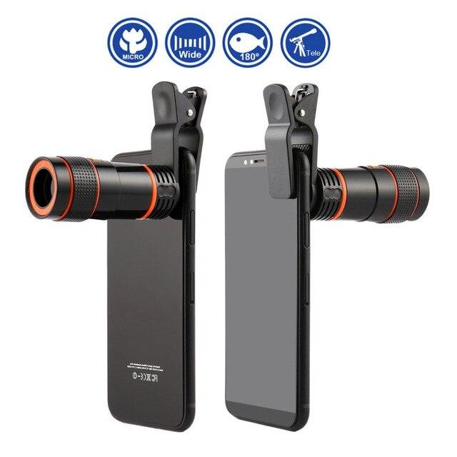 8x/12xミニ高倍率単眼望遠鏡長焦点レンズユニバーサルデジタルカメラ携帯電話