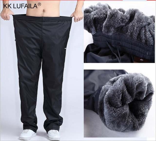 fd48213faf US $16.32 32% OFF|Men's Super Warm Winter Pants Thick Wool Joggers Fleece  Trousers Waterproof Sweatpants Windbreaker Cargo Pants Men 4XL 5XL 6XL-in  ...