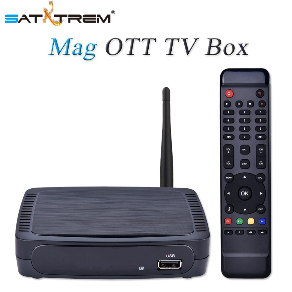 Satxtrem Mag Boîte M968 IPTV Set Top Box OTT Internet TV Boîte H.265 1080 P + RT5370 USB WiFi Mag250, mag254, Mag256 Harceleur Media Player