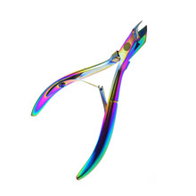Professional Nail Cuticle Nipper Stainless Steel Rainbow Tweezer Clipper Dead Skin Remover Scissor Plier Manicure Nail Art Tool(China)