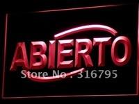 I535 ABIERTO Food Cafe Restaurant NIEUWE LED Neon Licht Teken Op/Off Swtich 20 + Kleuren 5 Maten