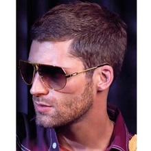 FEISHINI Pilot Celebrity Sunglasses Men Brand Design Retro Metal Frame Gradient