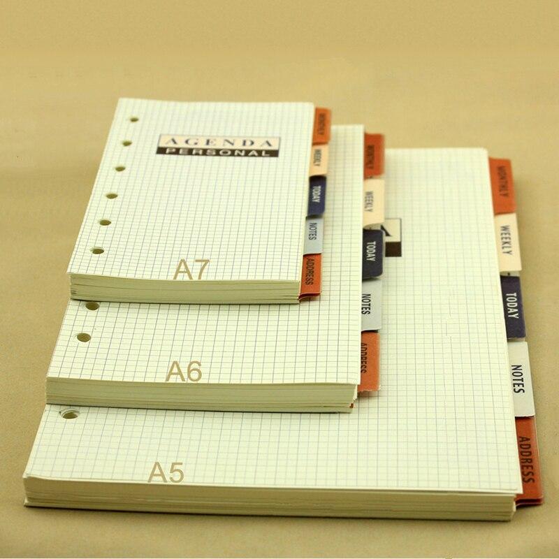 А5 А6 А7 бизнес повестка дня Органайзер бумага, расписание управления временем свободные лист заправки, ежемесячный недельный сегодня блокн...