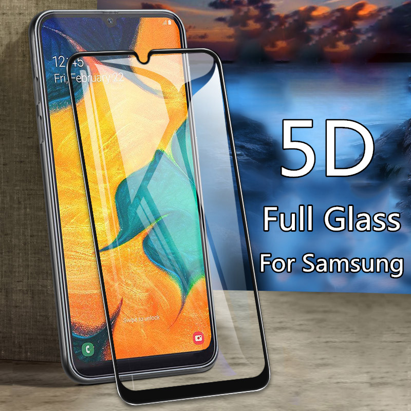 5D Curved Tempered <font><b>Glass</b></font> For <font><b>Samsung</b></font> Galaxy A10 A20 A30 A50 M30 M20 M10 Screen Protector Sumsung <font><b>A</b></font> <font><b>50</b></font> M 30 20 10 Safety Film image