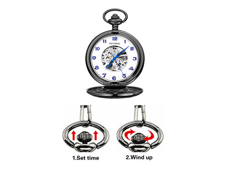 mechanical pocket watch men-23